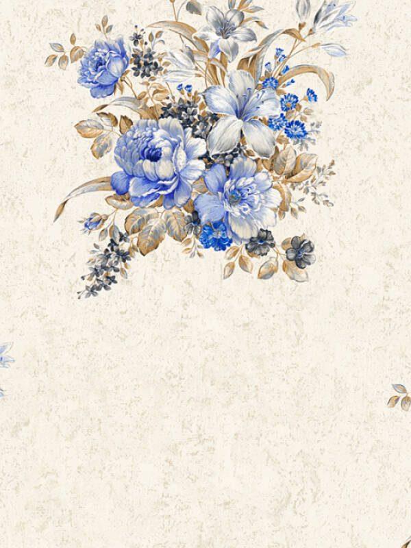 cvetne tapete za spavacu sobu